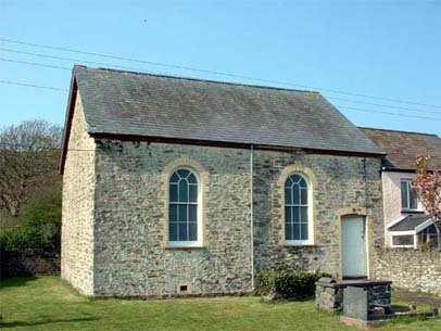 Salem Baptist Chapel, Llanrhystud erected in 1823.